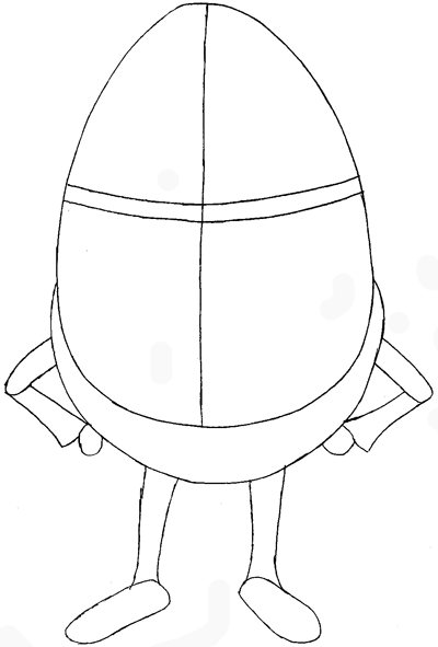 How to Draw Humpty Dumpty from Puss In Boots with Easy