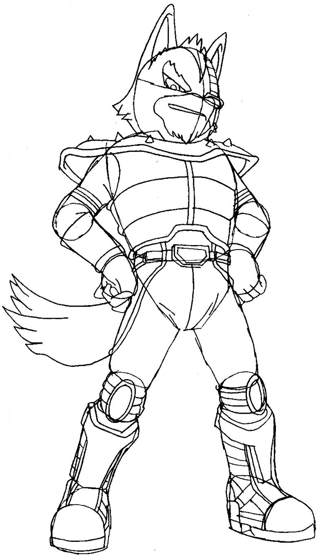 How to Draw Wolf O'Donnell from the Star Wolf Team with