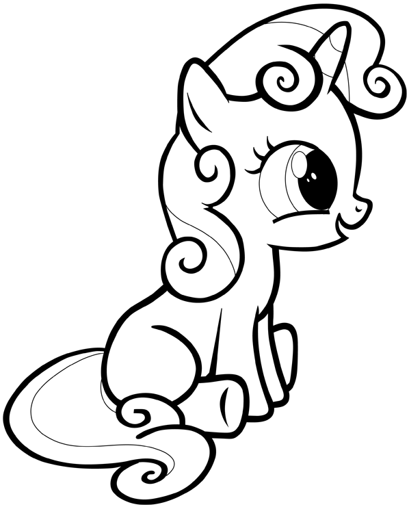 How to Draw Sweetie Belle from My Little Pony: Friendship