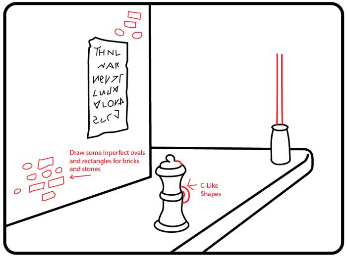 How to Draw a Cartoon City Street Sidewalk Scene with Easy