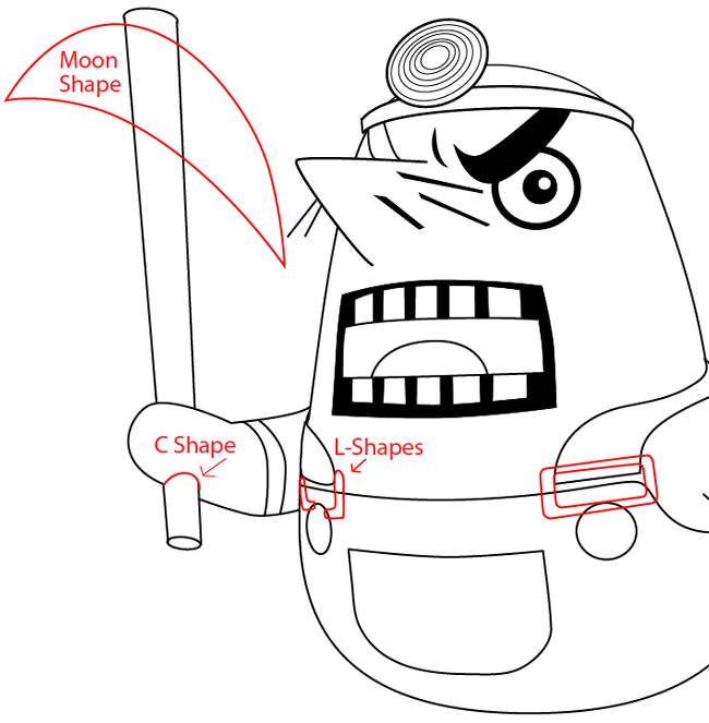 How to Draw Resetti from Animal Crossing with Easy Step by