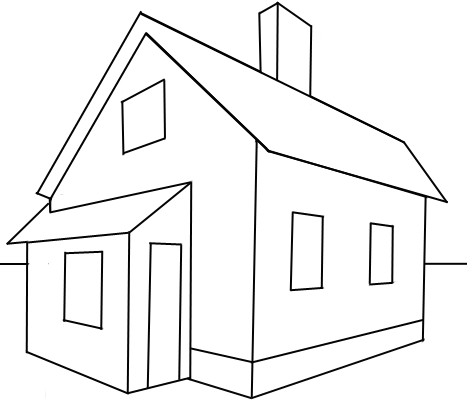 How to Draw a House with Easy 2 Point Perspective Techniques  How to Draw Step by Step Drawing