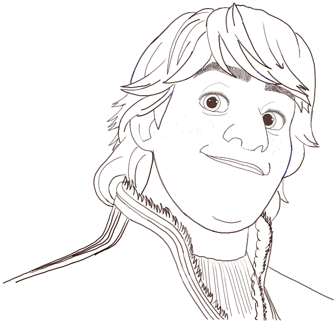 How to Draw Kristoff from Frozen Step by Step Drawing
