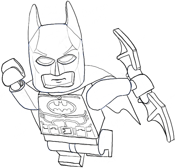 How to Draw Lego Batman Minifigure with Easy Step by Step