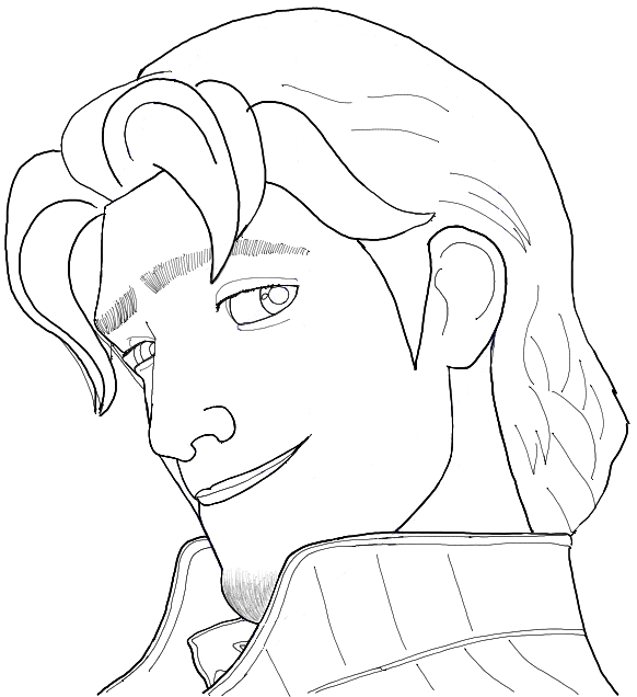 How to Draw Flynn Rider from Tangled Step by Step Drawing