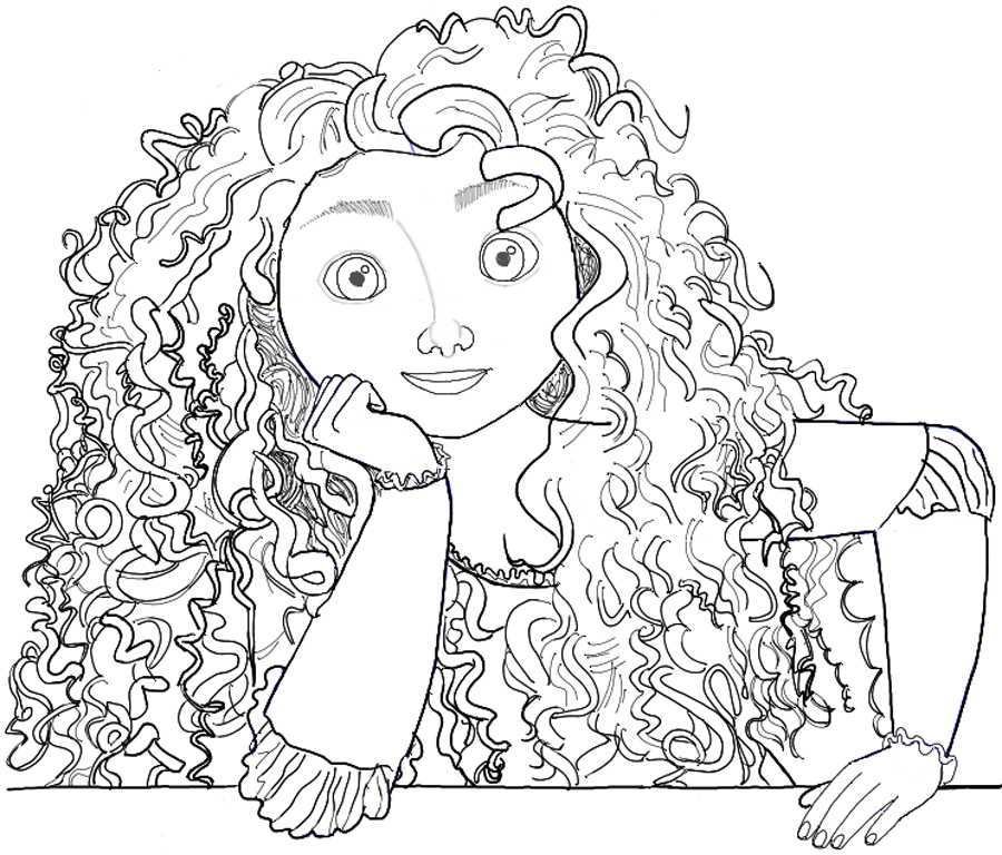 How to Draw Merida from Brave Step by Step Drawing