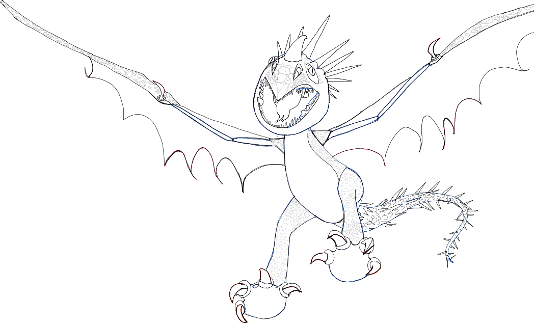 How to Draw Stormfly from How to Train Your Dragon 1 and 2