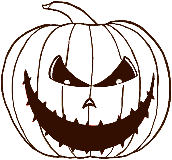 Simple pumpkin drawing (jack o lantern drawing).💚 for drawi. How To Draw A Scary Pumpkin Jack O Lantern In Easy Steps For Halloween How To Draw Step By Step Drawing Tutorials