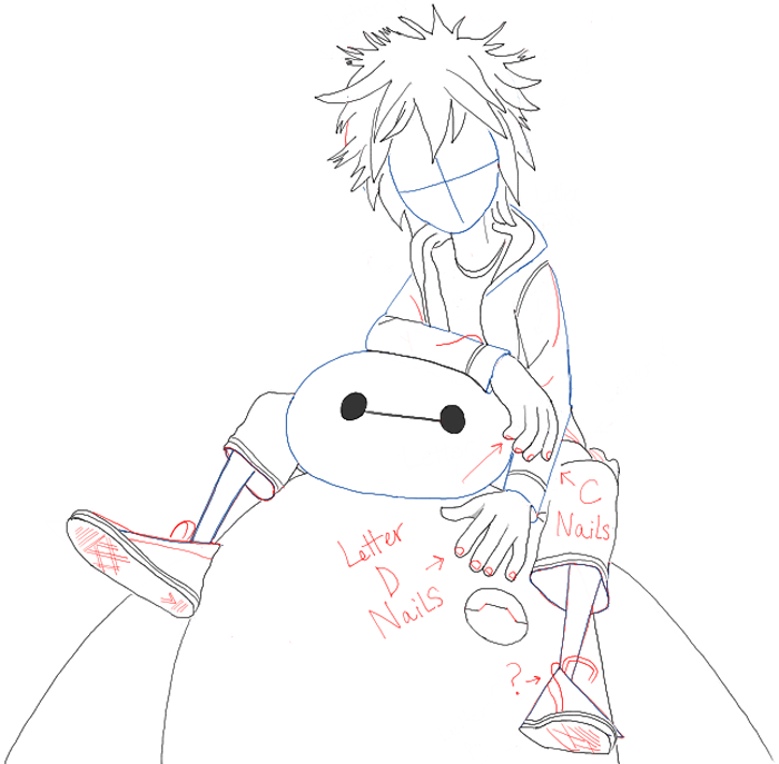 How to Draw Hiro Hamada and Baymax from Big Hero 6 in Easy