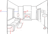 How to Draw a Room with Perspective Drawing Tutorial of a ...