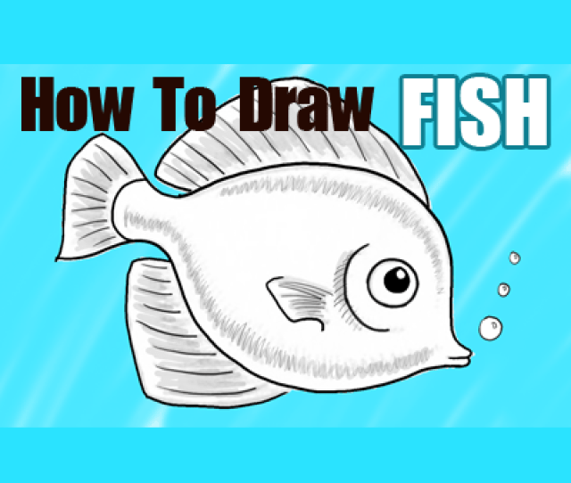 How To Draw A Cute Fish Cartoon With Easy Step By Step Drawing Tutorial