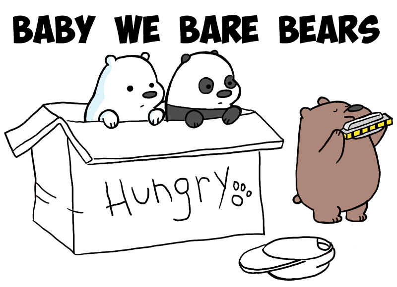 Baby Ice Bear We Bare Bears Coloring Pages