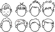 draw boys and mens hair