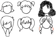 draw girls hair styles