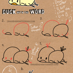 How To Make A Diagram In Word 2002 Mercury Cougar Engine Draw Baby Cartoon Duck With The Easy
