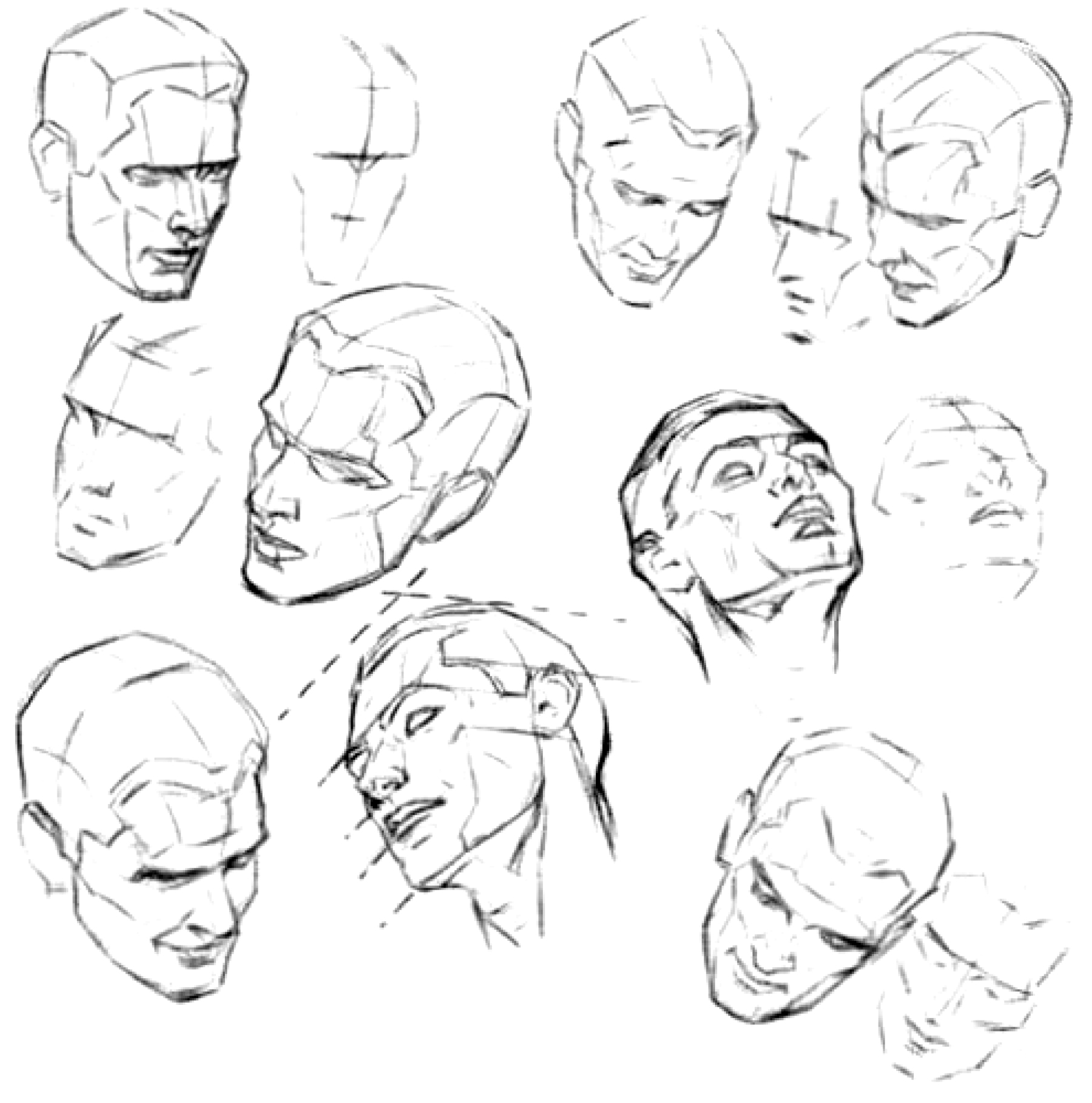 How to Draw the Face and Head in Perspective to Keep