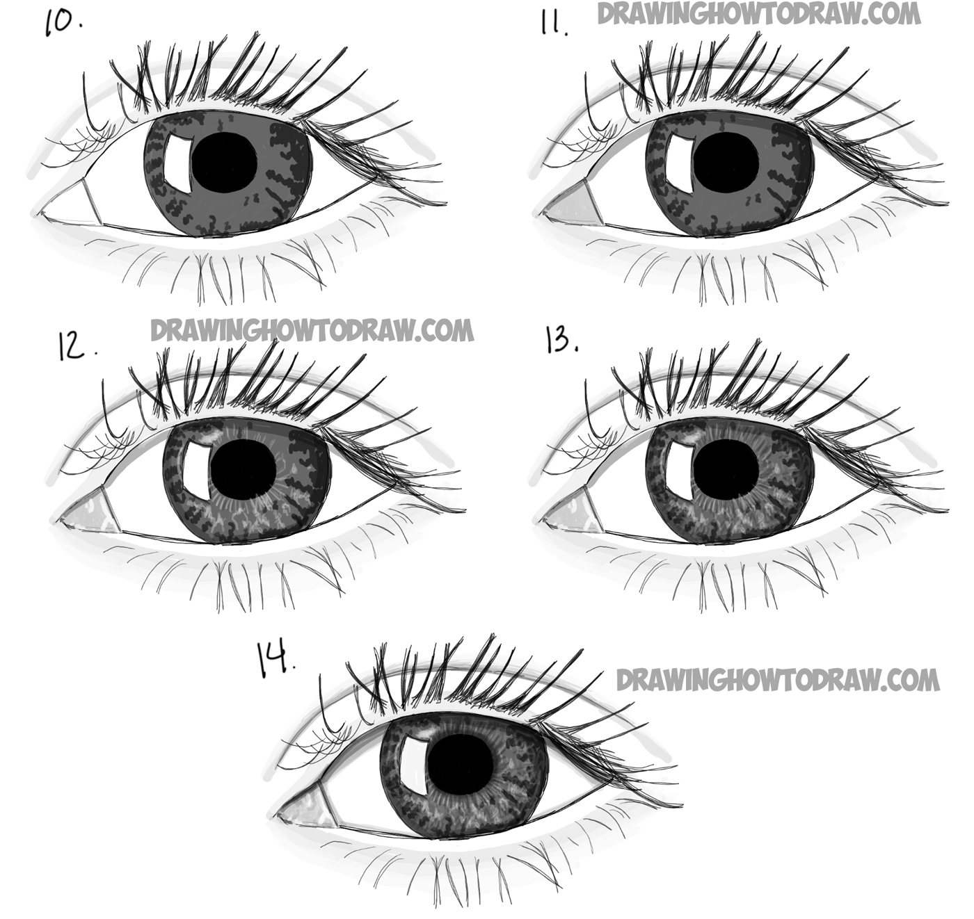 How to Draw Realistic Eyes with Step by Step Drawing
