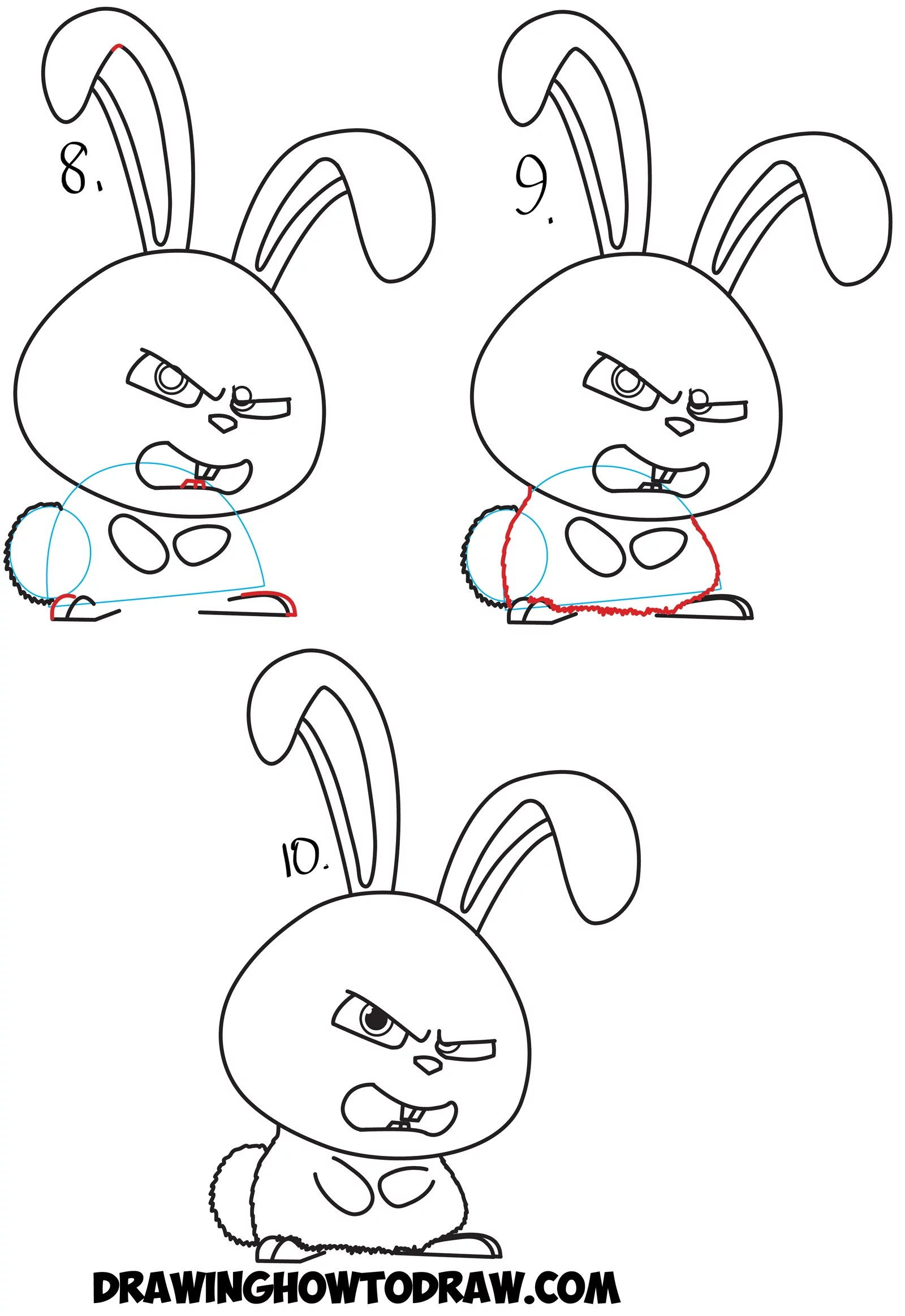 How to Draw Snowball the Bunny Rabbit from The Secret Life