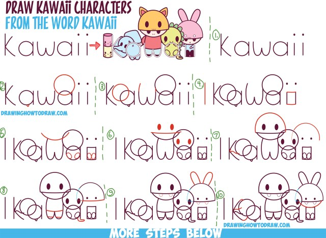 How to Draw Kawaii Characters, Animals, and People from the Word