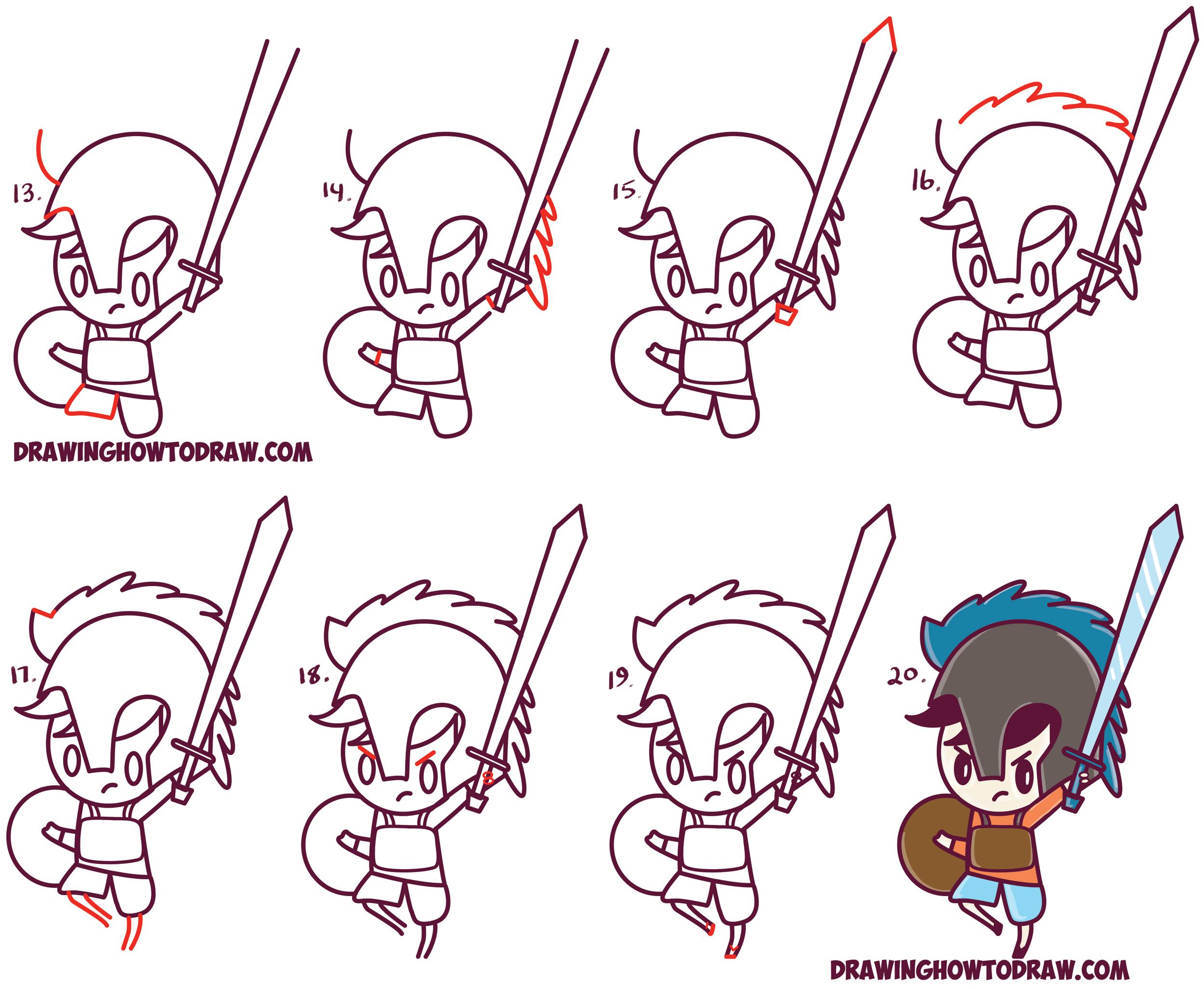 How To Draw Percy Jackson Cute Cartoon Chibi Kawaii