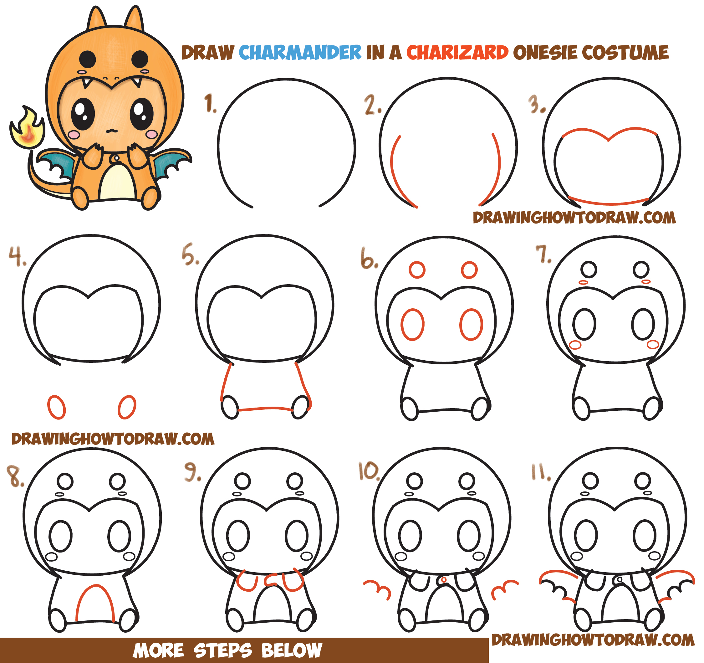 er diagram tutorial for beginners xlr to 1 4 mono wiring how draw charmander wearing a charizard costume onesie