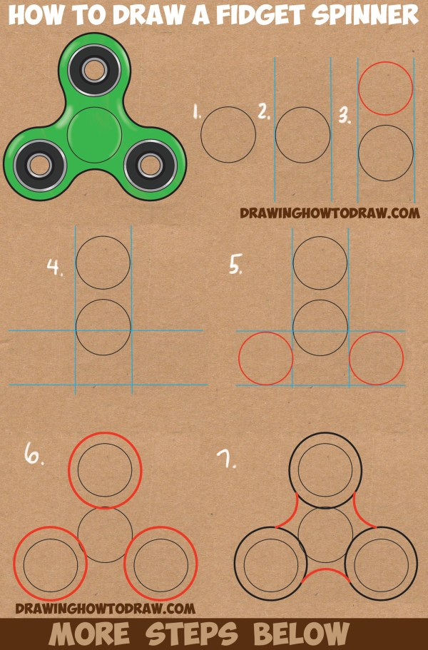Draw Fidget Spinner Easy Step Drawing