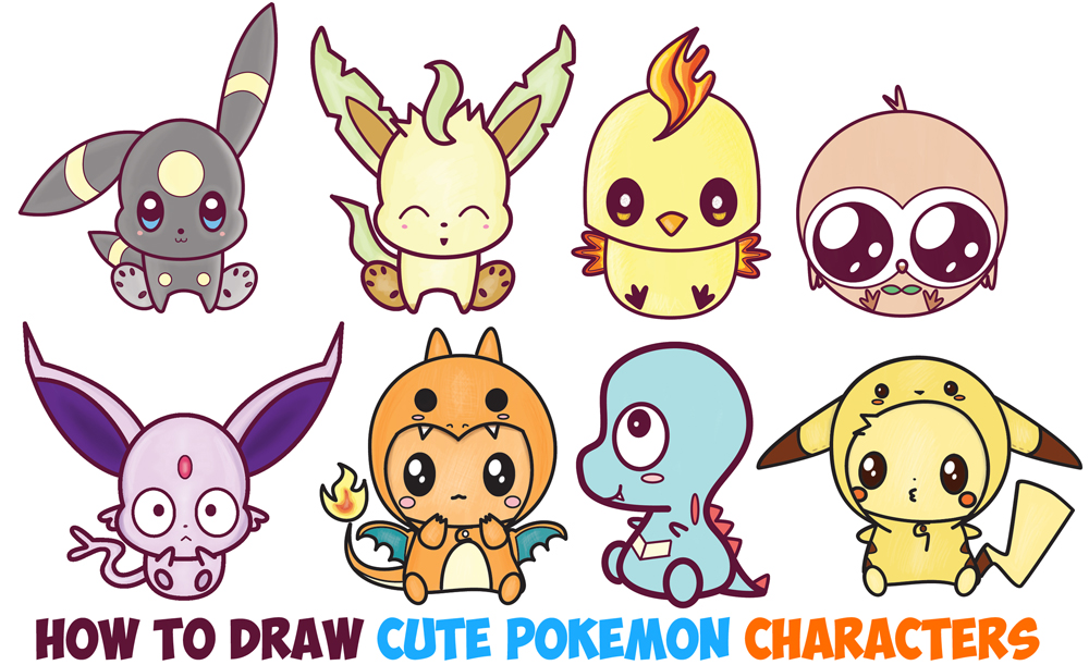 Pokemon Characters Archives How To Draw Step By Step Drawing Tutorials