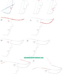 learn how to draw a realistic cute little girl s face head from the side profile [ 2000 x 5142 Pixel ]