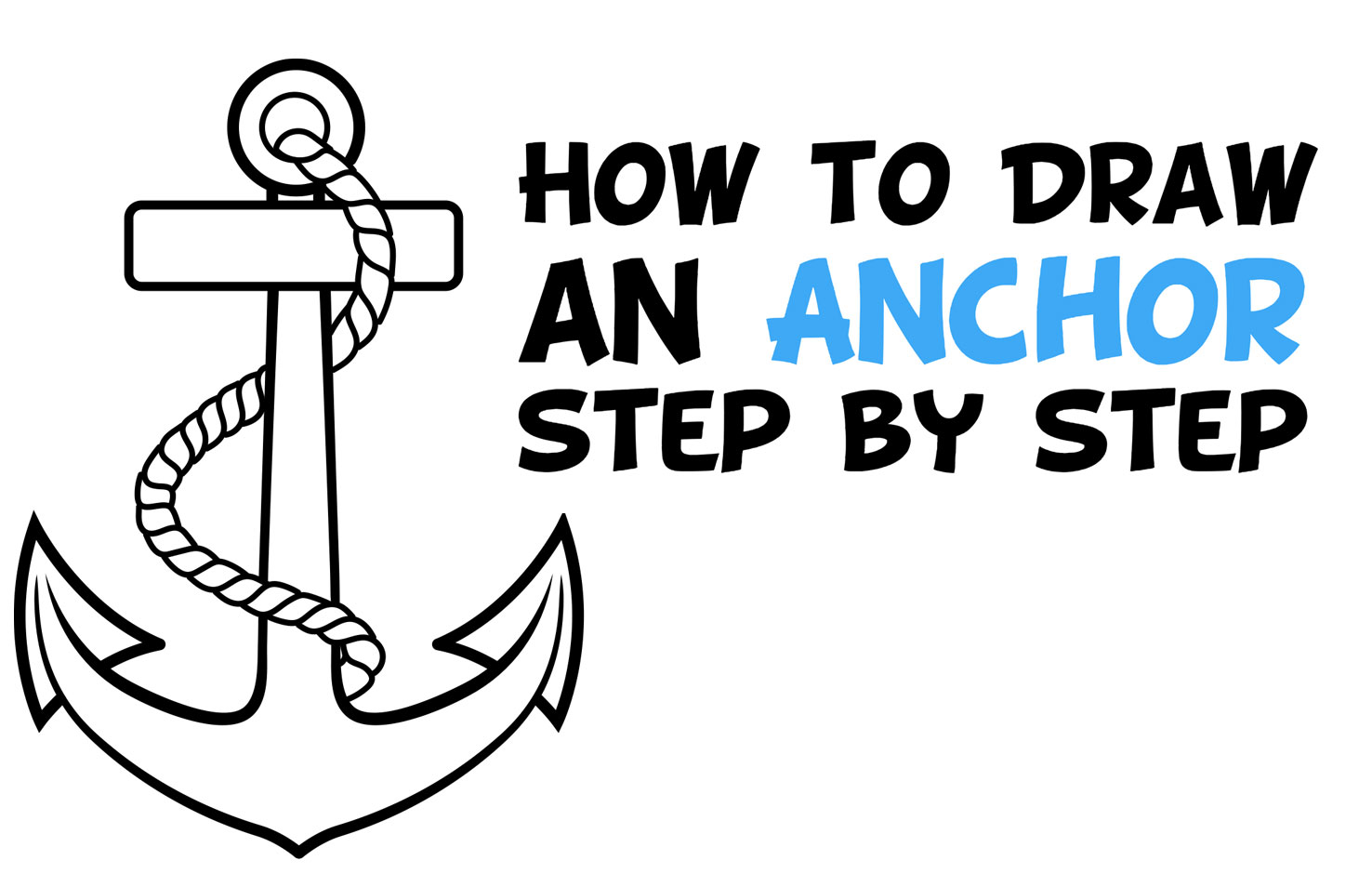 How to Draw an Anchor Easy Step by Step Drawing Tutorial