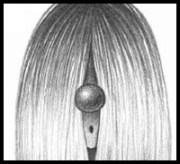draw straight hair