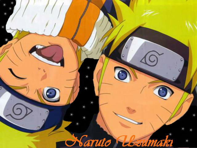 Young Naruto and Older Naruto  picture by Des_Akatsuki