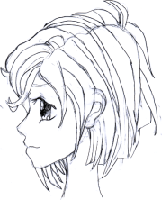 1st manga girl side view