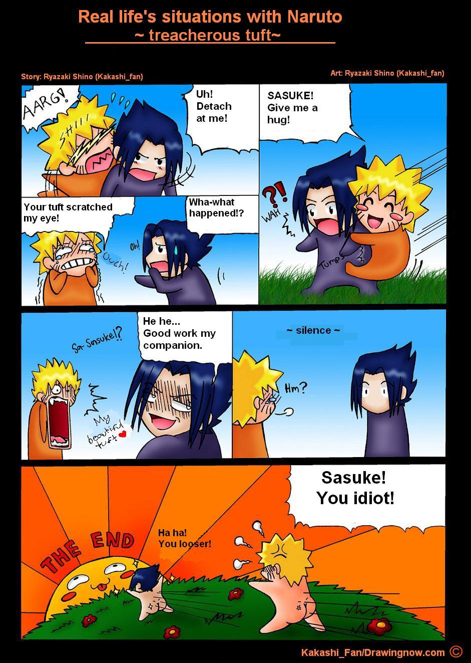 Real Lifes Situations With Naruto And Sasuke Picture