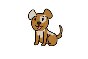 How To Draw A Dog For Kids Drawingnow