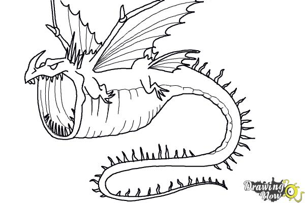 How to Draw a Thunderdrum Dragon from How to Train Your