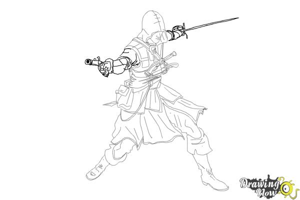 assassins creed edward kenway drawing
