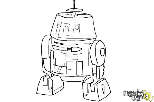 How to Draw Chopper, Grumpy Astromech Droid from Star Wars