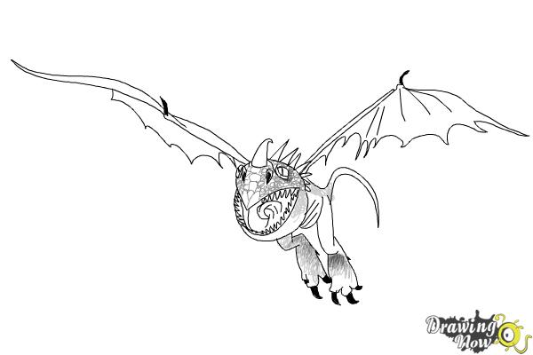 How to Draw Stormfly from How to Train Your Dragon 2