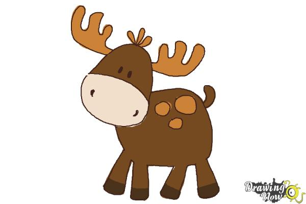 How To Draw A Moose For Kids DrawingNow