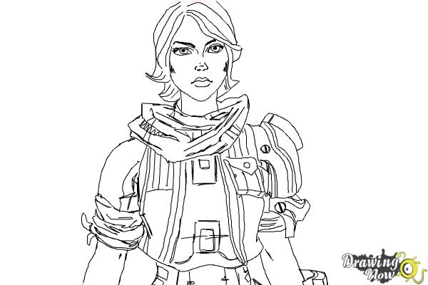 How to Draw Athena from Borderlands The Pre-Sequel