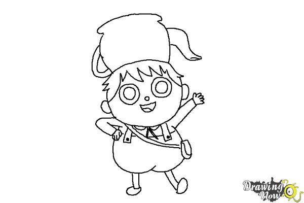 How to Draw Gregory, Greg from Over The Garden Wall