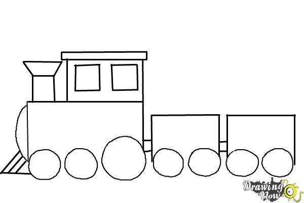 Simple Train Coloring Page Sketch Coloring Page