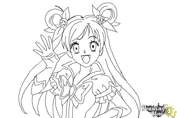 How to Draw Cure Dream, Nozomi Yumehara from Pretty Cure