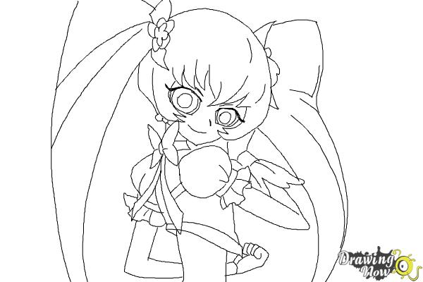 How to Draw Cure Sunshine, Myoudouin Itsuki from Pretty