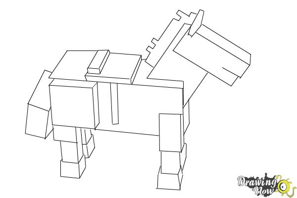 Image of: Sheep How To Draw The Undead Horse From Minecraft Step 10 Drawingnow How To Draw The Undead Horse From Minecraft Drawingnow