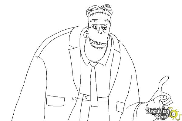 How to Draw Frankenstein from Hotel Transylvania 2