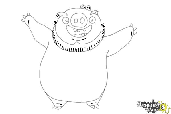 Angry Birds King Pig Coloring Pages