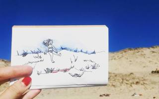 Carnet de Voyage - Biscarosse - Illustration by Drawings and things