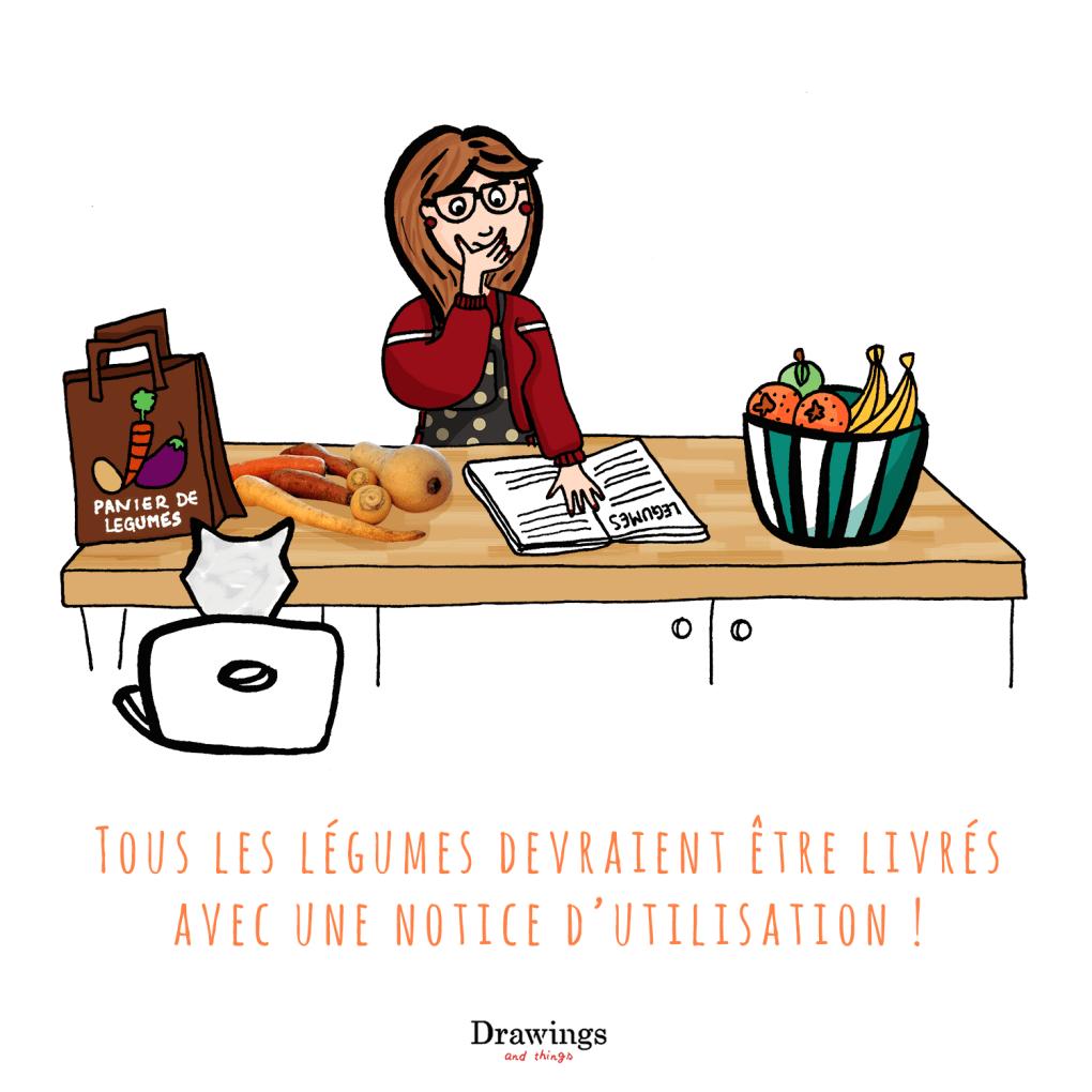 La notice des légumes // Drawings and things