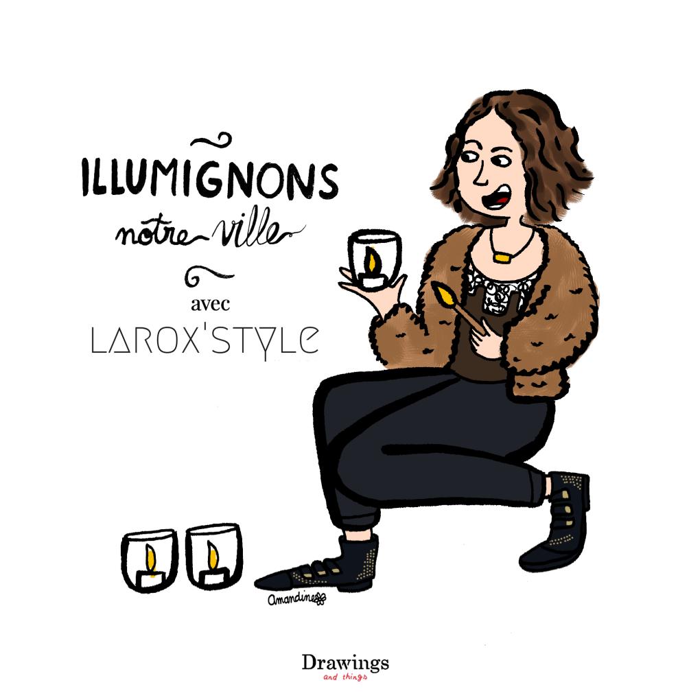 Les illuminations de la fête des lumières à Lyon racontées par LaRoxstyle by Drawings and things